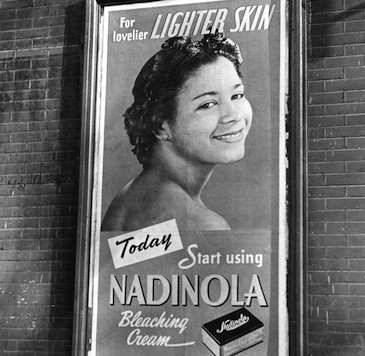 Advertisement for Nadinola bleaching cream, 'for lovelier lighter skin,' New York, New York, 1944. (Photo by Fred Stein Archive/Archive Photos/Getty Images)